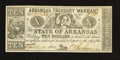Obsoletes By State:Arkansas, (Little Rock), AR- $10 Arkansas Treasury Warrant $10 Apr. 11, 1862 Cr. 54. ...