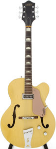 Musical Instruments:Electric Guitars, 1957 Gretsch Streamliner Bamboo Yellow Semi-Hollow Body ElectricGuitar, Serial # 23609....