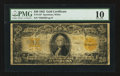 Large Size:Gold Certificates, Fr. 1187* $20 1922 Gold Certificate Star PMG Very Good 10.. ...