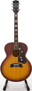 Musical Instruments:Acoustic Guitars, Circa 1970's Alvarez 5052 Jumbo Ice Tea Burst Acoustic Guitar,#45028....