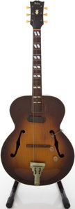 Musical Instruments:Electric Guitars, Circa Mid 1940's Gibson ES-300 Sunburst Archtop Electric Guitar....