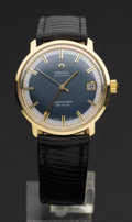 Timepieces:Wristwatch, Omega 18k Gold Seamaster. ...
