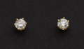 Estate Jewelry:Earrings, Diamond & Gold Stud Earrings. ...