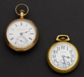 Timepieces:Pocket (post 1900), Hamilton 974 Special & 18 Size 15 Jewel Hampden. ... (Total: 2Items)