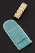 Estate Jewelry:Other , Tiffany & Co. Sterling & 18k Gold Money Clip. ...