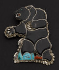 Estate Jewelry:Other , Artist Eva Wyaco (Zuni) Large Sterling Bear Bolo. ...