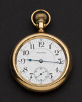 Timepieces:Pocket (post 1900), Waltham 21 Jewel Crescent St. Pocket Watch. ...
