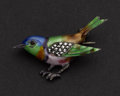 Estate Jewelry:Brooches - Pins, Silver, Enamel & Marcasite Pin. ...