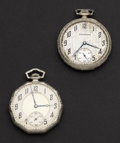 Timepieces:Pocket (post 1900), Studebaker & South Bend 12 Size Pocket Watches Runners. ... (Total: 2 Items)