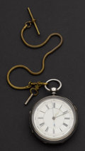 Timepieces:Pocket (pre 1900) , Over Sized Swiss Lever Fusee Sterling Silver Pocket Watch. ...