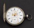 Timepieces:Pocket (post 1900), Roskell Unusual Dial & Movement 11 Jewel Hunter's Case PocketWatch. ...