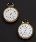 Timepieces:Pocket (post 1900), Two Hamilton 21 Jewel 992 Pocket Watches Runners. ... (Total: 2 Items)