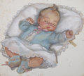 Mainstream Illustration, HELEN SCHAD (American, 20th Century). Sleeping Baby, Woman'sHome Companion magazine cover, circa 1920s. Pastel on board...