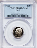 Proof Roosevelt Dimes: , 1983 10C No S PR68 Deep Cameo PCGS. PCGS Population (63/83).Numismedia Wsl. Price for problem free NGC...