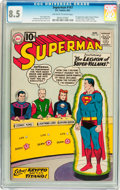 Silver Age (1956-1969):Superhero, Superman #147 (DC, 1961) CGC VF+ 8.5 Off-white to white pages....