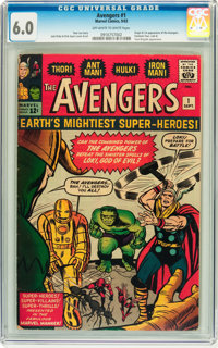The Avengers #1 (Marvel, 1963) CGC FN 6.0 Off-white to white pages