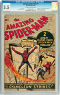 Silver Age (1956-1969):Superhero, The Amazing Spider-Man #1 (Marvel, 1963) CGC FN- 5.5 Off-white towhite pages....