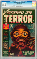 Golden Age (1938-1955):Horror, Adventures Into Terror #22 (Atlas, 1953) CGC VF+ 8.5 Cream tooff-white pages....