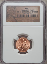 2009 1C Formative Year First Day of Issue MS65 Red NGC. NGC Census: (0/0). PCGS Population (586/632). Numismedia Wsl. Pr...