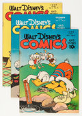 Golden Age (1938-1955):Cartoon Character, Walt Disney's Comics and Stories Group (Dell, 1945-46) Condition:Average VG/FN.... (Total: 3 Comic Books)