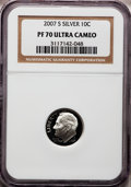 Proof Roosevelt Dimes, 2007-S 10C Silver PR70 Ultra Cameo PCGS. PCGS Population (447). NGCCensus: (0). Numismedia Wsl. Price for problem free NG...