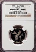 Proof Statehood Quarters, 2009-S 25C Guam Clad PR69 Ultra Cameo NGC. PCGS Population(2090/342). Numismedia Wsl. Price for proble...