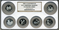 2009-S 25C Set of Six DC & Territorial Quarters Clad PR70 Ultra Cameo NGC. This Set Includes: District of Colombia...