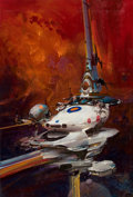 Mainstream Illustration, JOHN CONRAD BERKEY (American, 1932-2008). Unpublished spaceillustration. Acrylic on board. 23 x 13.5 in.. Signed lower ...