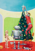 Pulp, Pulp-like, Digests, and Paperback Art, EDMUND (EMSH) EMSHWILLER (American, 1925-1990). A Little Girl'sXmas in Modernia, The Magazine of Fantasy and Science Fict...