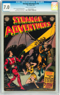 Golden Age (1938-1955):Science Fiction, Strange Adventures #18 (DC, 1952) CGC FN/VF 7.0 Cream to off-whitepages....