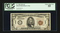 Small Size:World War II Emergency Notes, Fr. 2302 $5 1934A Hawaii Federal Reserve Note. PCGS Choice About New 55.. ...