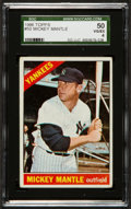 Baseball Cards:Singles (1960-1969), 1966 Topps Mickey Mantle #50 SGC 50 VG/EX 4....