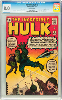 The Incredible Hulk #3 (Marvel, 1962) CGC VF 8.0 Off-white pages