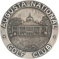 Golf Collectibles:Miscellaneous, 1934 Masters Tournament Silver Medal Presented to Craig Wood....