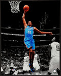 Basketball Collectibles:Photos, Kevin Durant Signed Oversized Photograph....