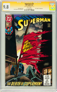 Superman #75 Signed by Dan Jurgens (DC, 1993) CGC Signature Series NM/MT 9.8 White pages