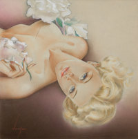 ALBERTO VARGAS (American, 1896-1982) Glamour Pin-Up, circa 1940s Watercolor and pencil on board 1
