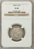 Barber Quarters: , 1894-S 25C XF40 NGC. NGC Census: (1/170). PCGS Population (4/184).Mintage: 2,648,821. Numismedia Wsl. Price for problem fr...