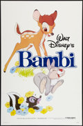"Movie Posters:Animation, Bambi (Buena Vista R-1982). One Sheet (27"" X 41""). Flat Folded.Animation.. ..."