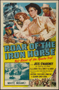"Movie Posters:Serial, Roar of the Iron Horse (Columbia, 1951). One Sheet (27"" X 41"")Chapter Six -- ""White Indians!"" Serial.. ..."