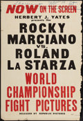 "Movie Posters, Rocky Marciano Fight Poster (Republic, 1953). One Sheet (28"" X42""). Sports.. ..."