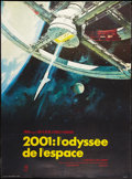 "Movie Posters:Science Fiction, 2001: A Space Odyssey (MGM, R-early 1970s). French Grande (45.75"" X62""). Science Fiction.. ..."