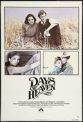 "Movie Posters:Drama, Days of Heaven (Paramount, 1978). One Sheet (27"" X 41""). Drama.. ..."