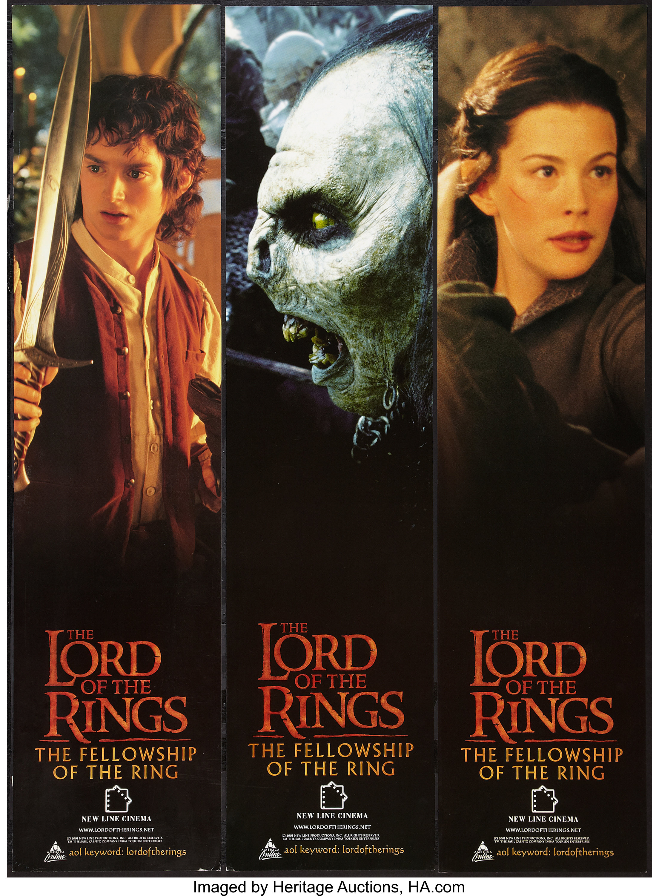 The Lord Of The Rings The Fellowship Of The Ring New Line 2001 Lot 54286 Heritage Auctions