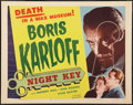 "Movie Posters:Crime, Night Key (Realart, R-1954). Half Sheet (22"" X 28""). Crime.. ..."
