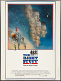 """Movie Posters:Adventure, The Right Stuff (Warner Brothers, 1983). Poster (30"""" X 40"""").Adventure.. ..."""