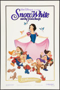 "Movie Posters:Animation, Snow White and the Seven Dwarfs (Buena Vista, R-1987). One Sheet (27"" X 41""). Gold Foil Style. Animation.. ..."