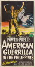 "Movie Posters:War, American Guerrilla in the Philippines (20th Century Fox, 1950).Three Sheet (40"" X 79""). War.. ..."