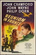 """Movie Posters:War, Reunion in France (MGM, 1942). One Sheet (27"""" X 41""""). Style C.War.. ..."""