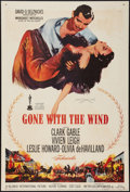 "Movie Posters:Academy Award Winners, Gone with the Wind (MGM, R-1961). One Sheet (27"" X 40.5""). AcademyAward Winners.. ..."